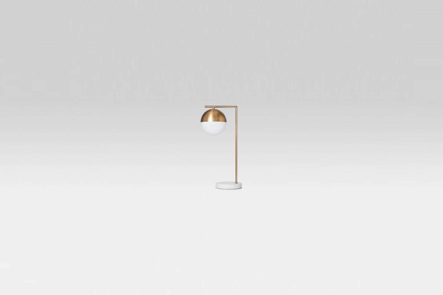 Geneva Glass Globe Brass Task Lamp