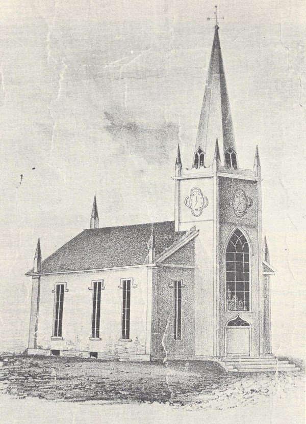 An etching of the building's earliest incarnation, as the Cedar Street 2nd Baptist Church.