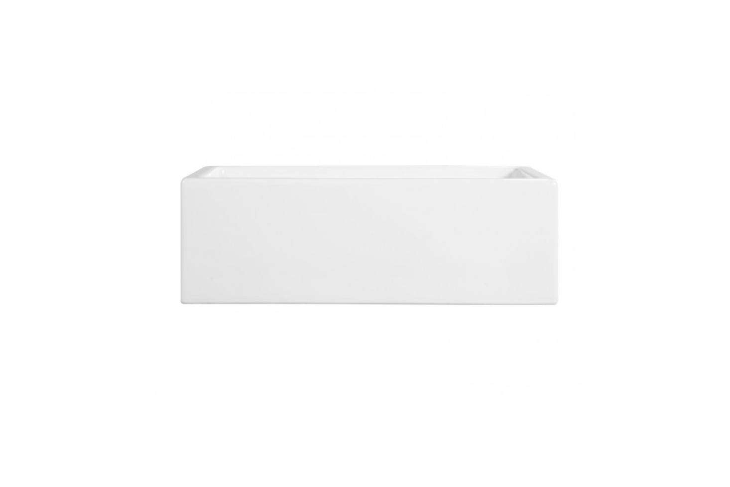 The 30-Inch Risinger Fireclay Farmhouse Sink in Smooth Apron White starts at $729 at Signature Hardware. For more see our post 10 Easy Pieces: White Kitchen Farmhouse Sinks.