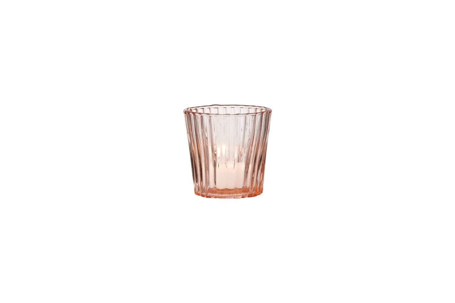 The Caroline Vintage Glass Candle Holder in Pink resembles the vintage Depression Glass tea light holder in the kitchen. This one is $4.90 at Luna Bazaar.