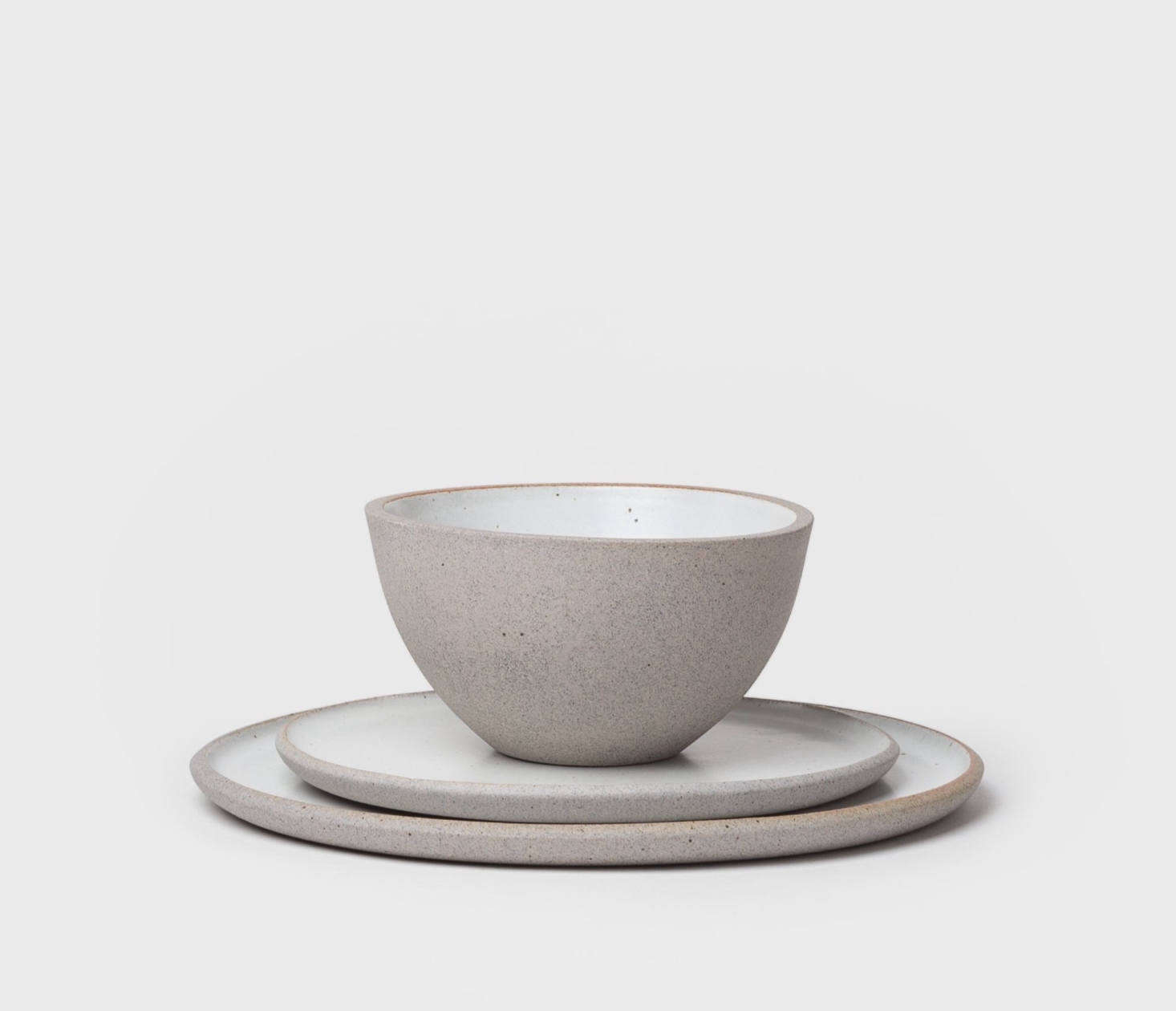 """Founded by Belgian-born artist Delphine Lippens, Humble Ceramicsproduces """"artisan pottery made with mindfulness in South Los Angeles, one small batch at a time."""" TheStillness Dinner Collection shown above is $105 from Shoppe Amber. (Also see our post Small-Batch, Big-Demand: Humble Ceramics of LA.)"""