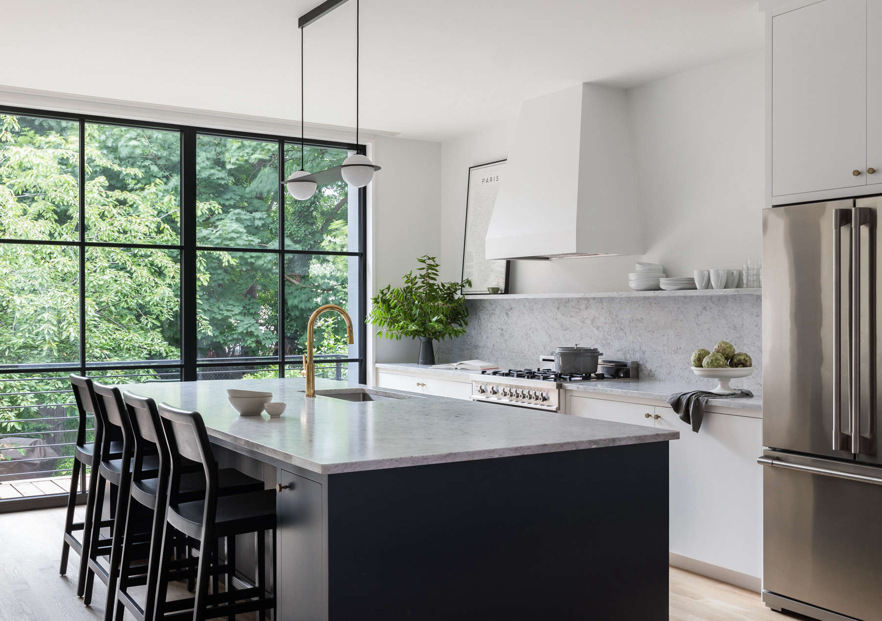 before & after: a circa-1850s row house in jersey city gets a fresh
