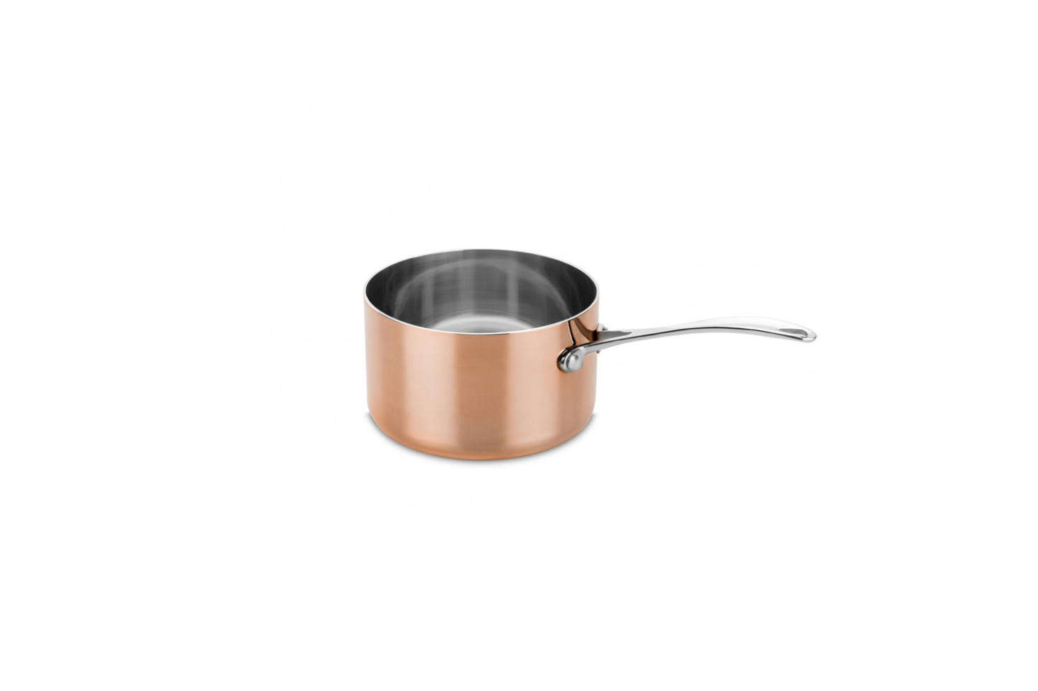 The Luxury Art Copper Saucepan comes in a set with a copper frying pan for €425 at Mepra, the Italian makers of some of our favorite flatware.