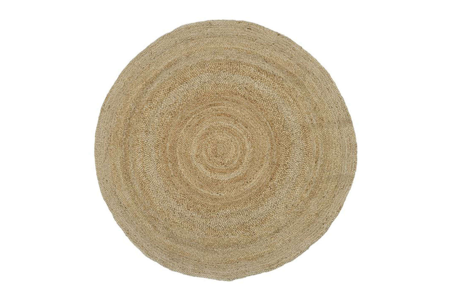 The Pottery Barn 8-Foot Round Jute Rug in Natural is $179.
