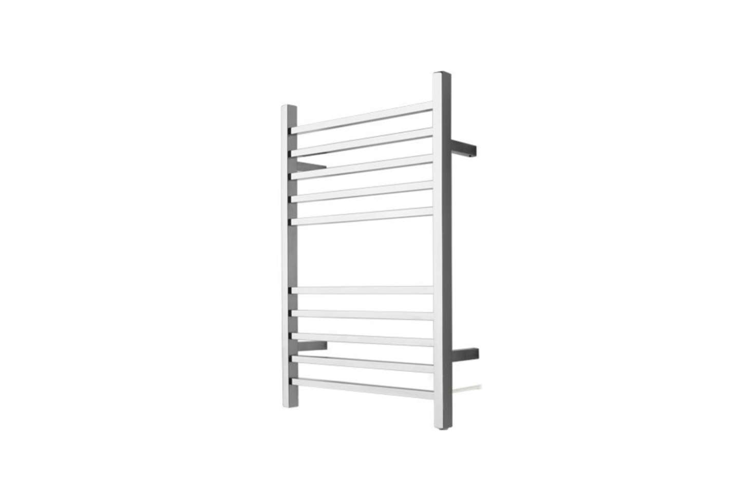 The Amba Radiant Square Plug-in Towel Warmer comes in Brushed Steel and Polished Steel for $217.95 at Only Towel Warmers.