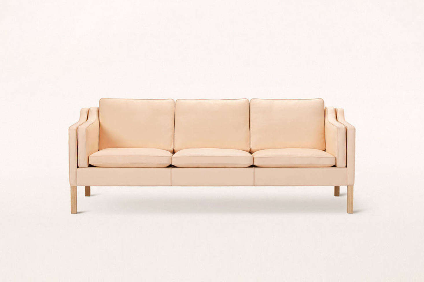 """The """"if I won the lotto"""" sofa for a few of us on the Remodelista team: designerBørge Mogensen's 2213 Three-Seater Sofa in vegetable-tanned leather (it's also available in upholstery fabric and other leathers). Designed in 1962 and still in production via Frederica Furniture, you can find the sofa for CA $22,295 at Mjölk in Toronto."""