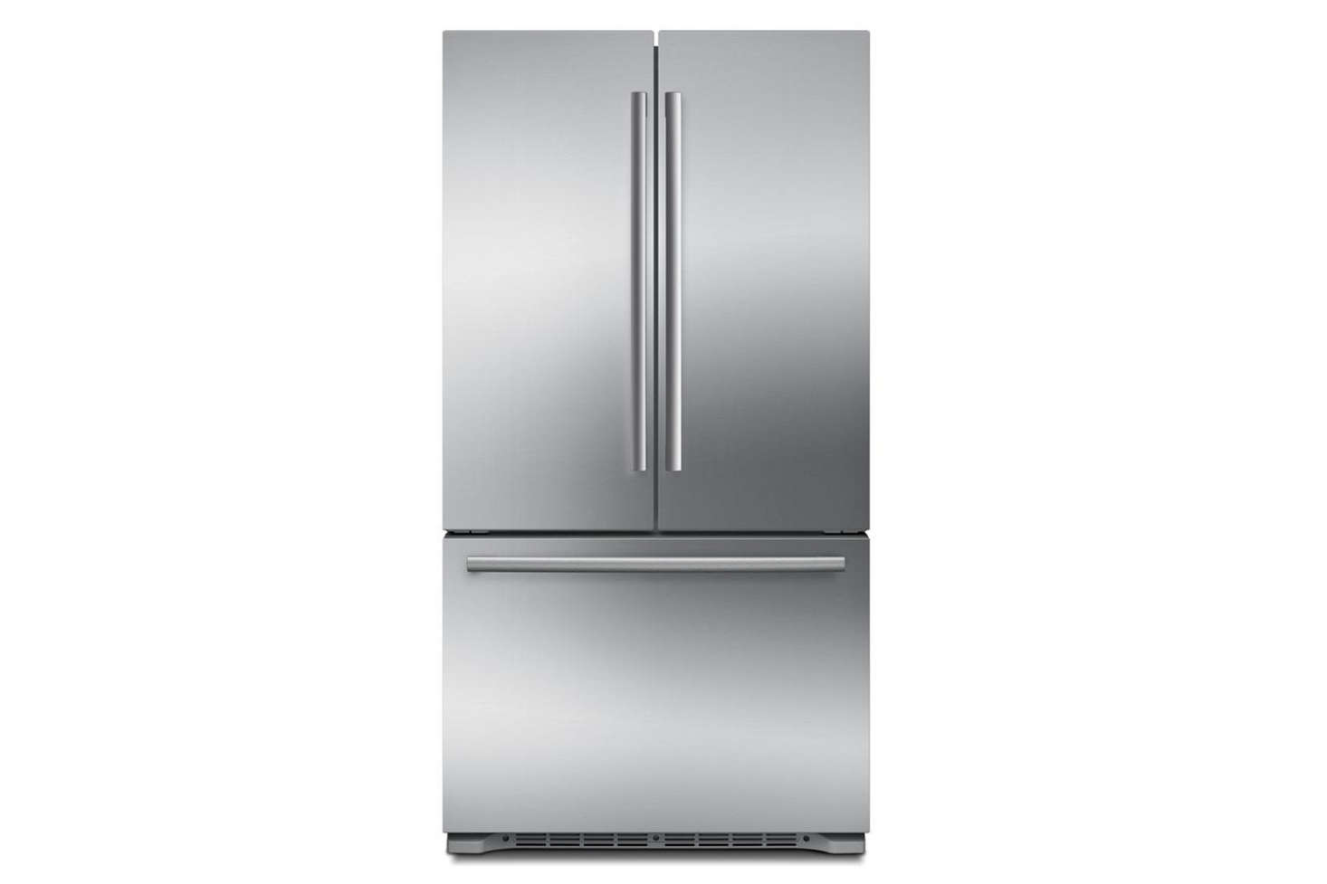 The Bosch 800 Series French Door Counter Depth Refrigerator In Stainless  Steel (B21CT80SNS)