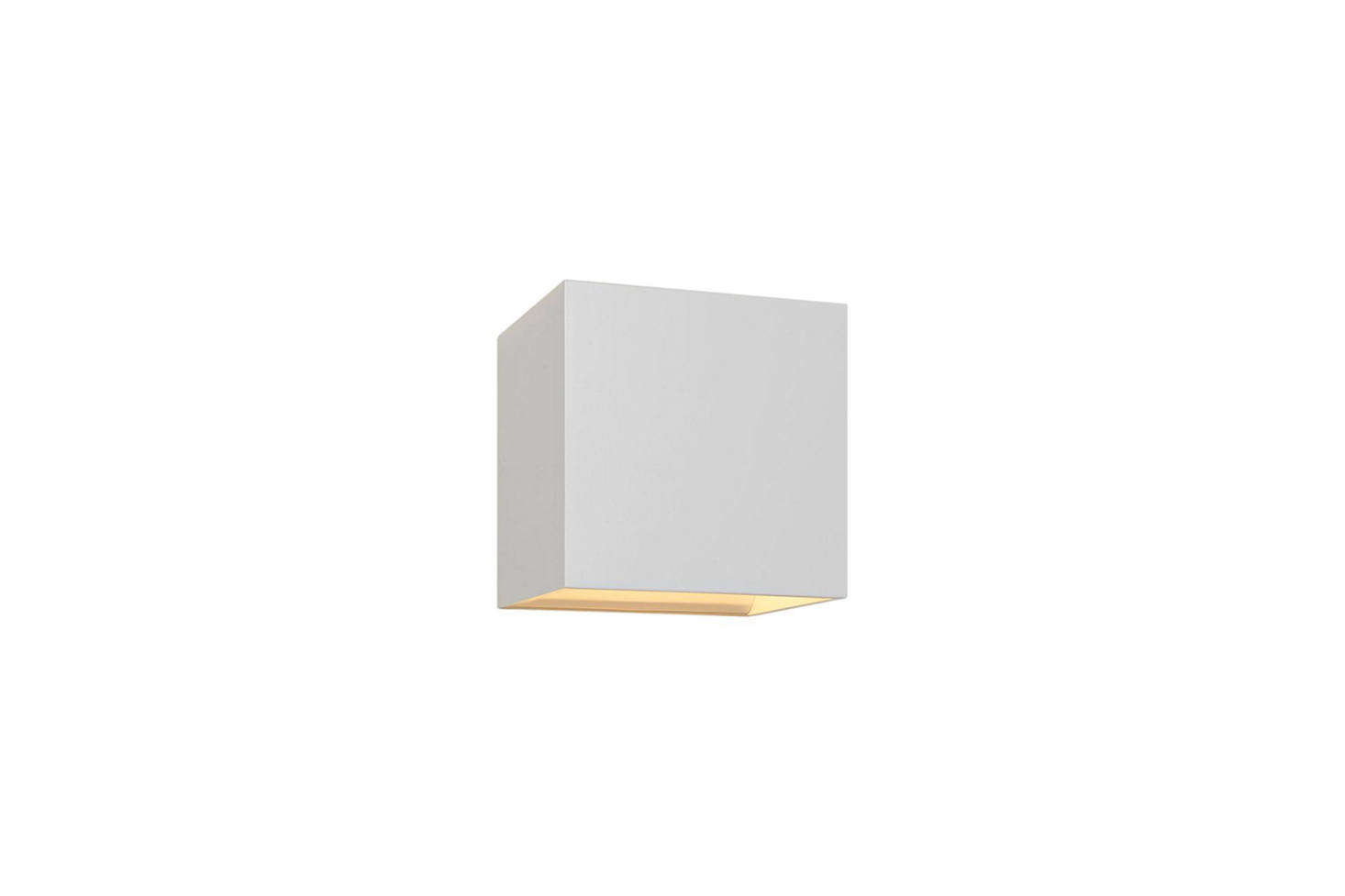 The Bruck QB White LED Wall Sconce has a white-painted aluminum construction; $215.63 at Lamps Plus.