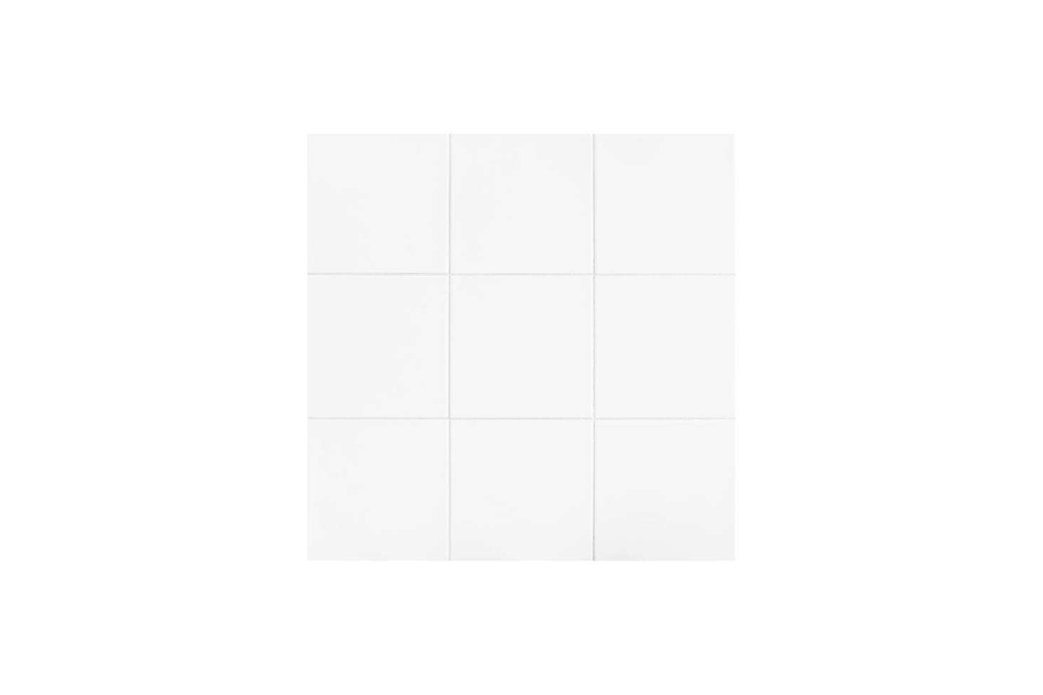 The Daltile Glacier White 12×12 Inch Ceramic Floor and Wall Tile is $10.89 for a case of tile that covers 11 square feet at The Home Depot. The tile is set with dark grout; for more see Remodeling 101: How to Choose the Right Tile Grout.