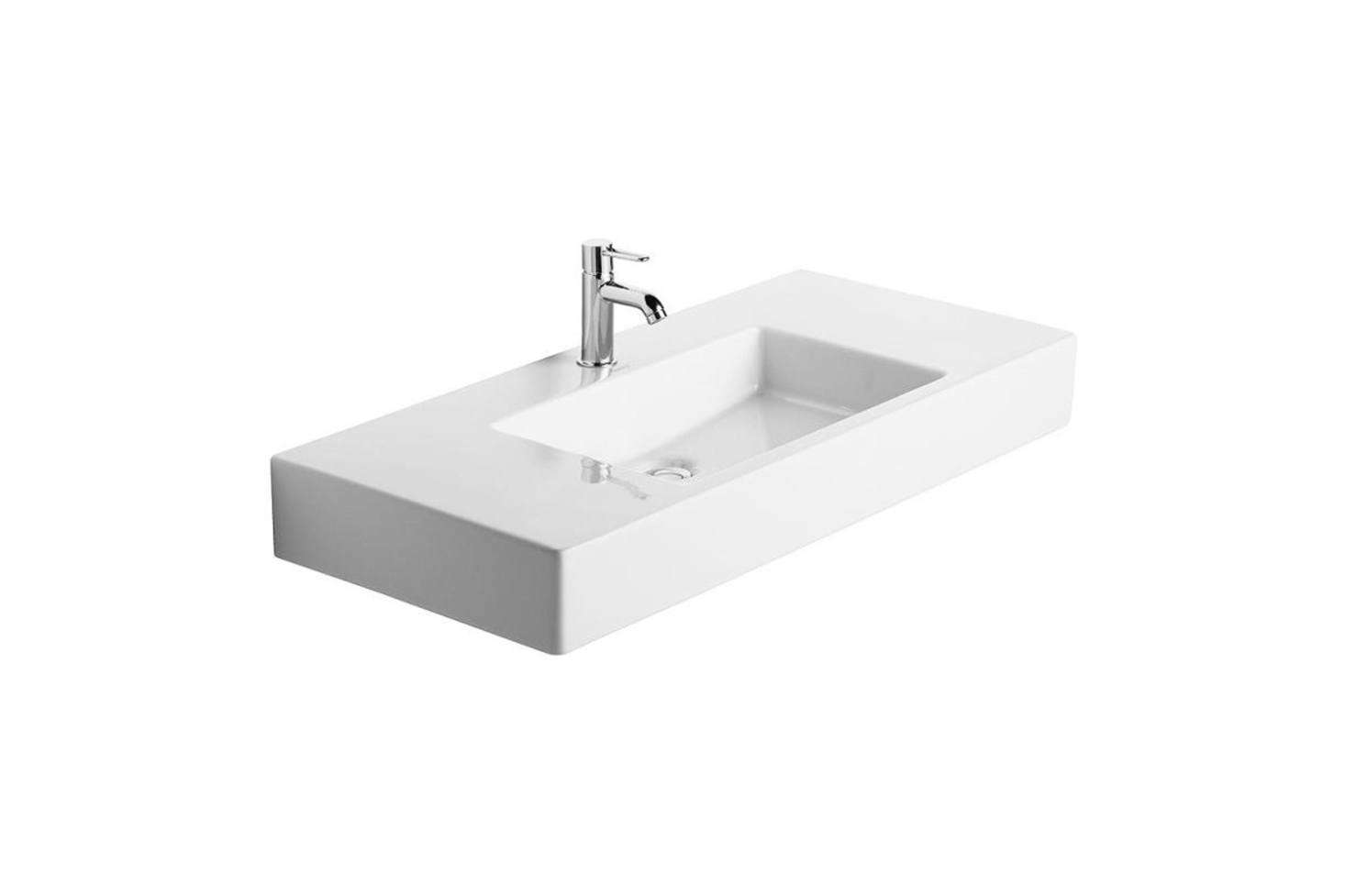 The basin is the Duravit Vero (03298500001) Bathroom Sink is $696.94 at Amazon.