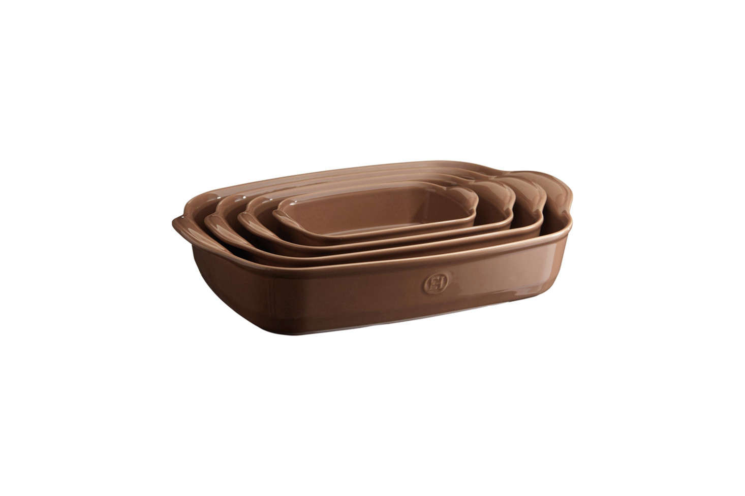 The Emile Henry Ultime Rectangular Baking Dish is one of many sizes and colors (shown in Oak); prices start at $35 for the smallest rectangle to $80 for the largest at Emile Henry.