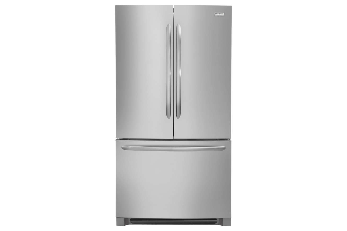 The Frigidaire Gallery 36-Inch Counter-Depth French Door Refrigerator (FGHG2368TF) is 28 1/2 inches deep; $2,288.10 from AJ Madison.