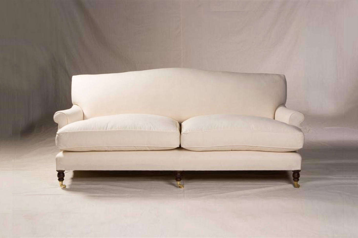 The George Sherlock sofa is the exemplar English roll arm sofa. Shown here is the Extended Mac Sofa 2-Seater available through George Sherlock directly or at Ruby Beets. Prices must be requested directly through either avenue.