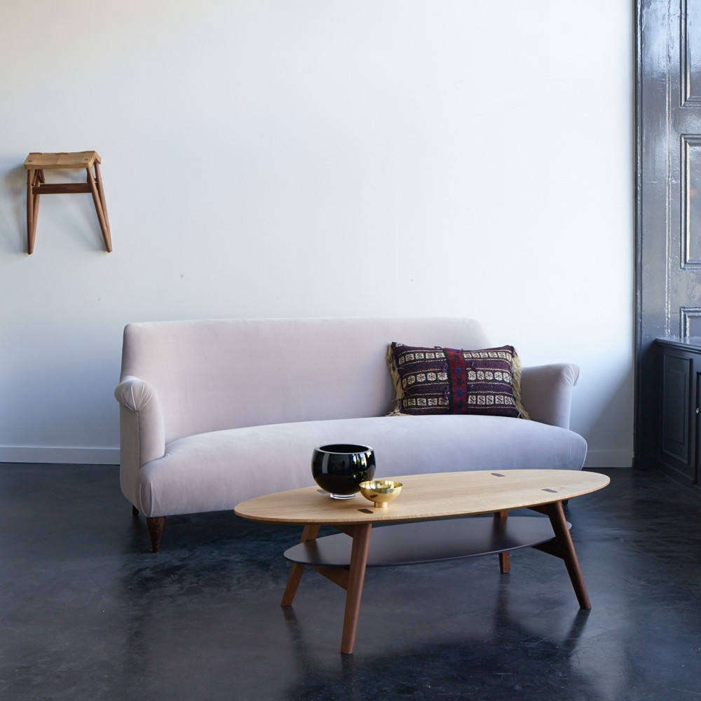Designed by Russell Pinch for The Future Perfect, the Goddard Sofa has an elegantly curved silhouette (see our postHigh/Low: The Curvy Sofa) and is available in four shades of velvet or customer's own fabric; $7,930 to $9,420 at The Future Perfect.