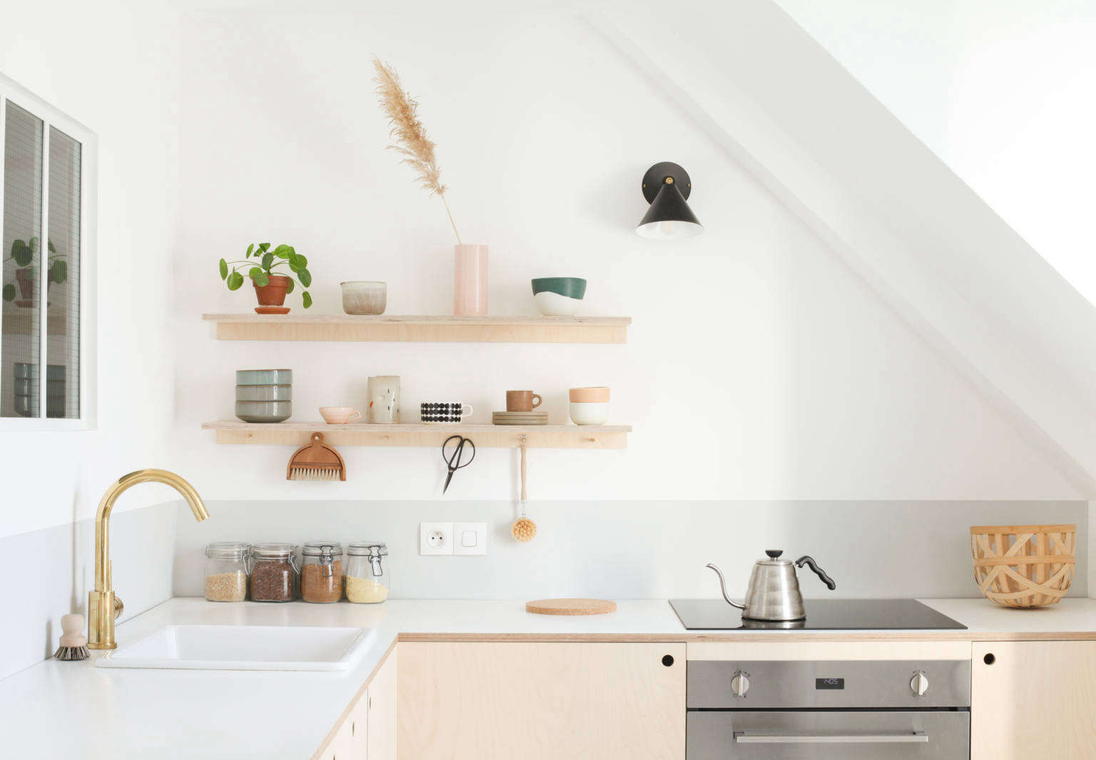 Kitchen of the Week: Two Young Paris Architects Completely Redo Their Kitchen for Under $4,300