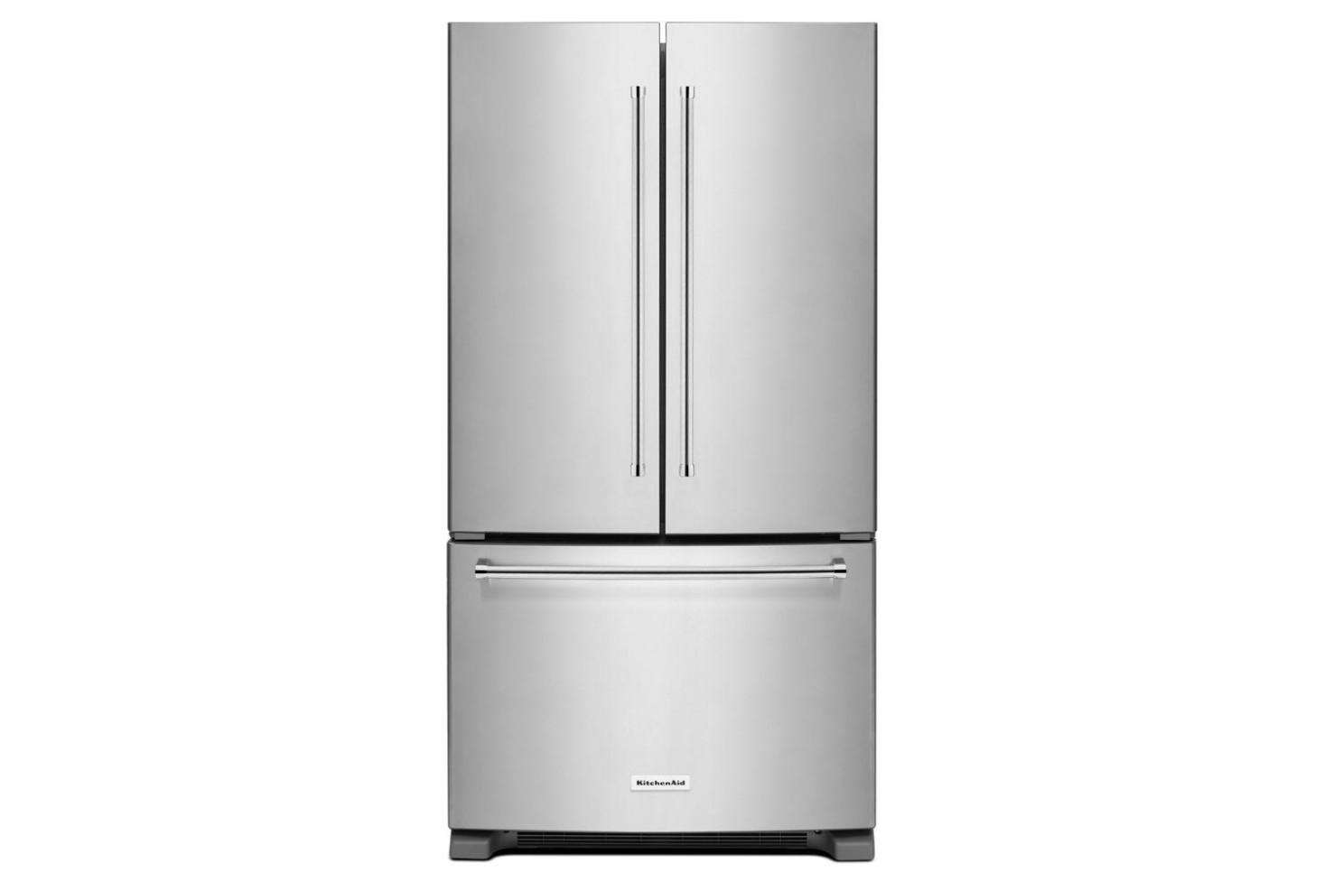 The KitchenAid French Door Counter Depth Refrigerator (KRFC300ESS) With A  Depth Of 29.38