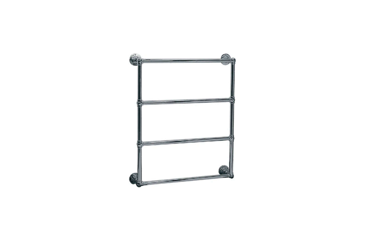 For a traditional style, look to Lefroy Brooks for their Classic 1900 Electric Ball Jointed Wall-Mounted Towel Warmer for $3,297 at Quality Bath.