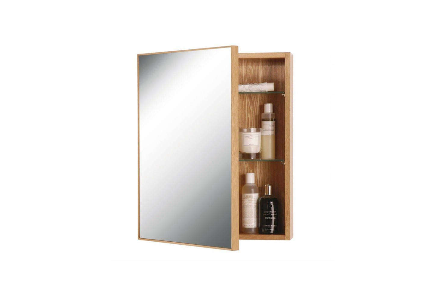 The medicine cabinet in the bathroom is the Slimline 550 Cabinet designed by Lincoln Rivers for Wireworks; £196 at TwentyTwentyOne in the UK. You can also find it in the US for $273.99 at Wayfair.