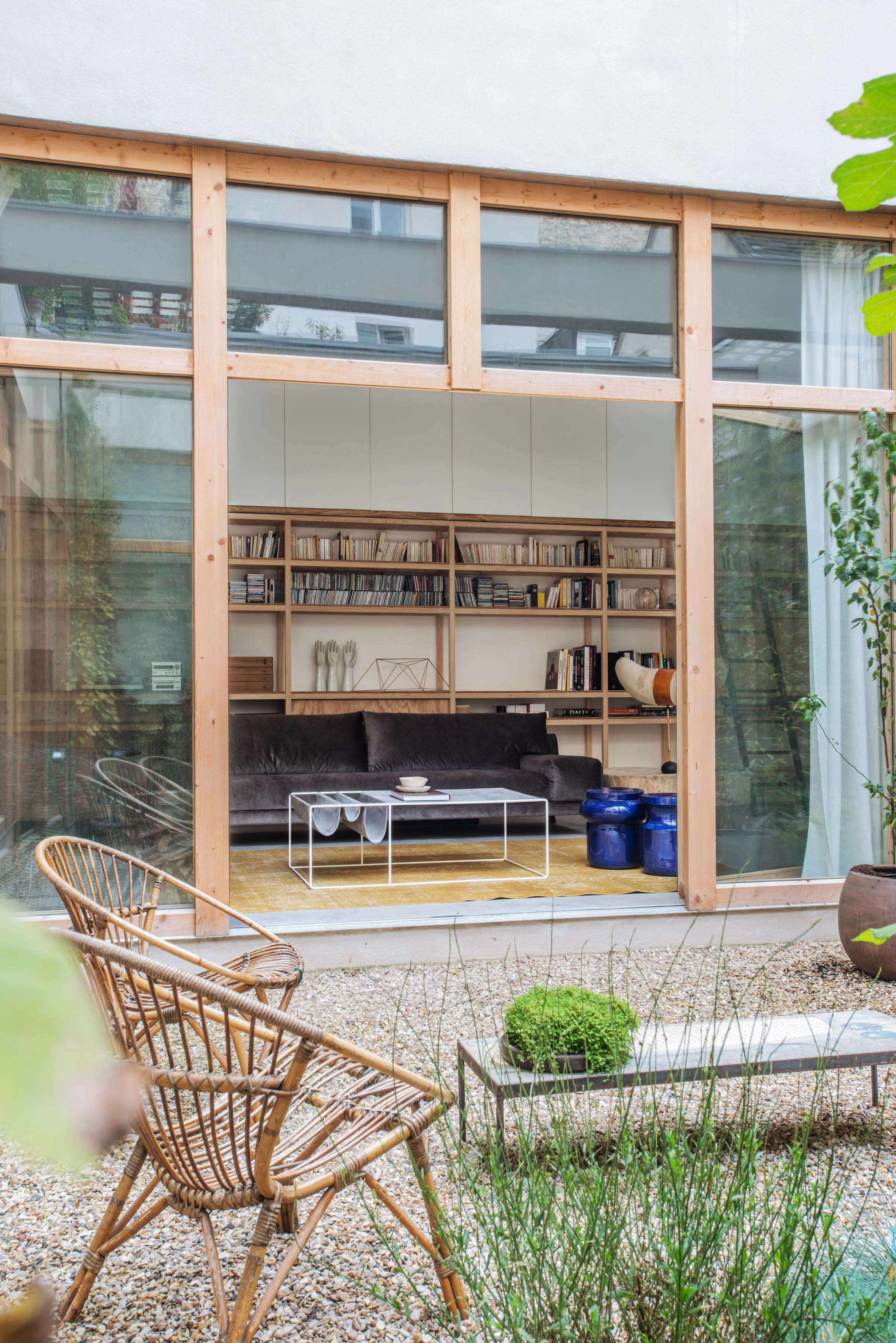 Indoor outdoor living in paris a warehouse converted into a loft built around a courtyard