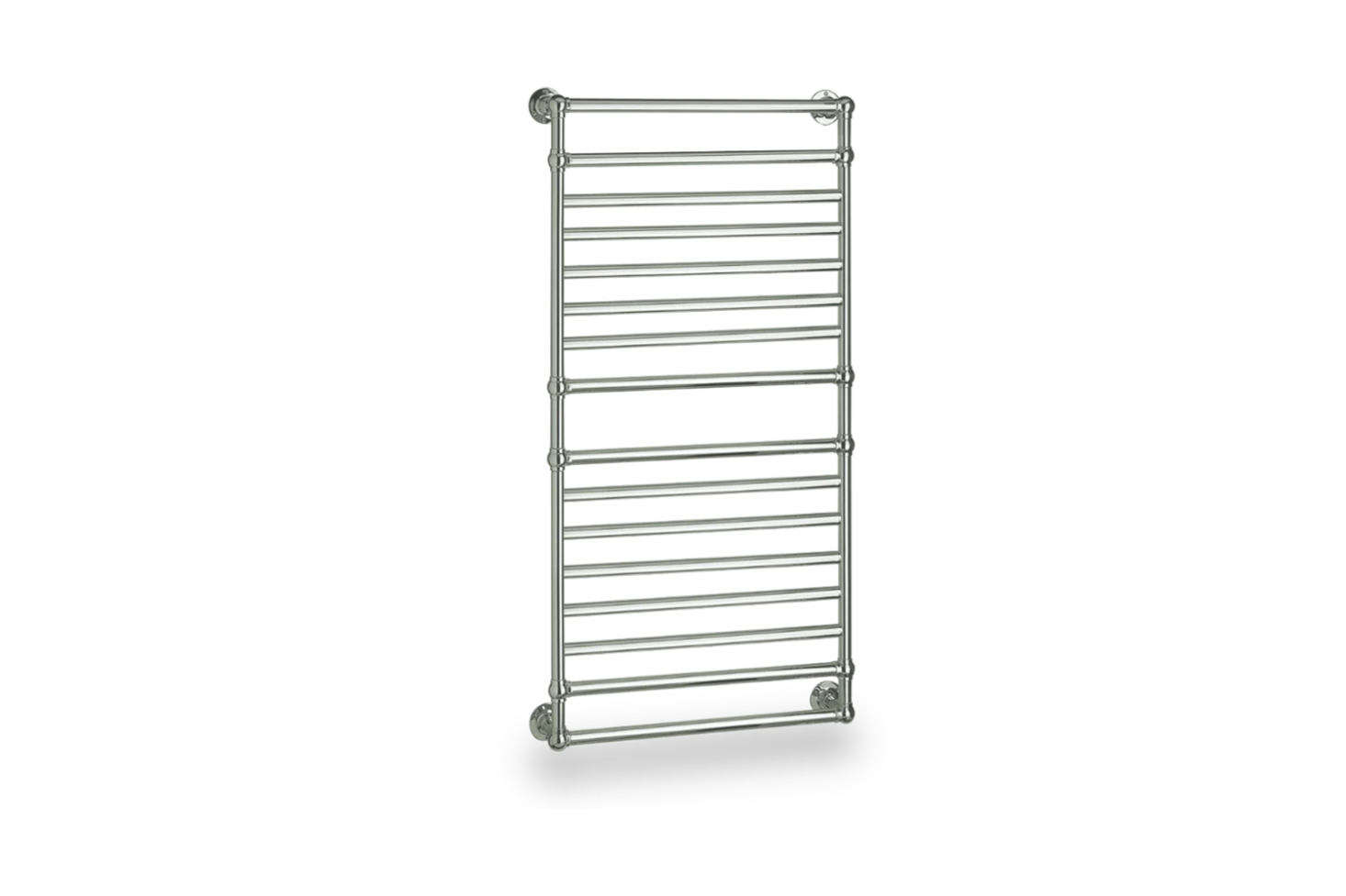 The Myson Ullswater Master Suite Electric Towel Warmer comes in Polished Chrome, Polished Nickel, Satin Nickel, Regal Brass, Oil-Rubbed Bronze, and White starting at $2,558.25 at Quality Bath.