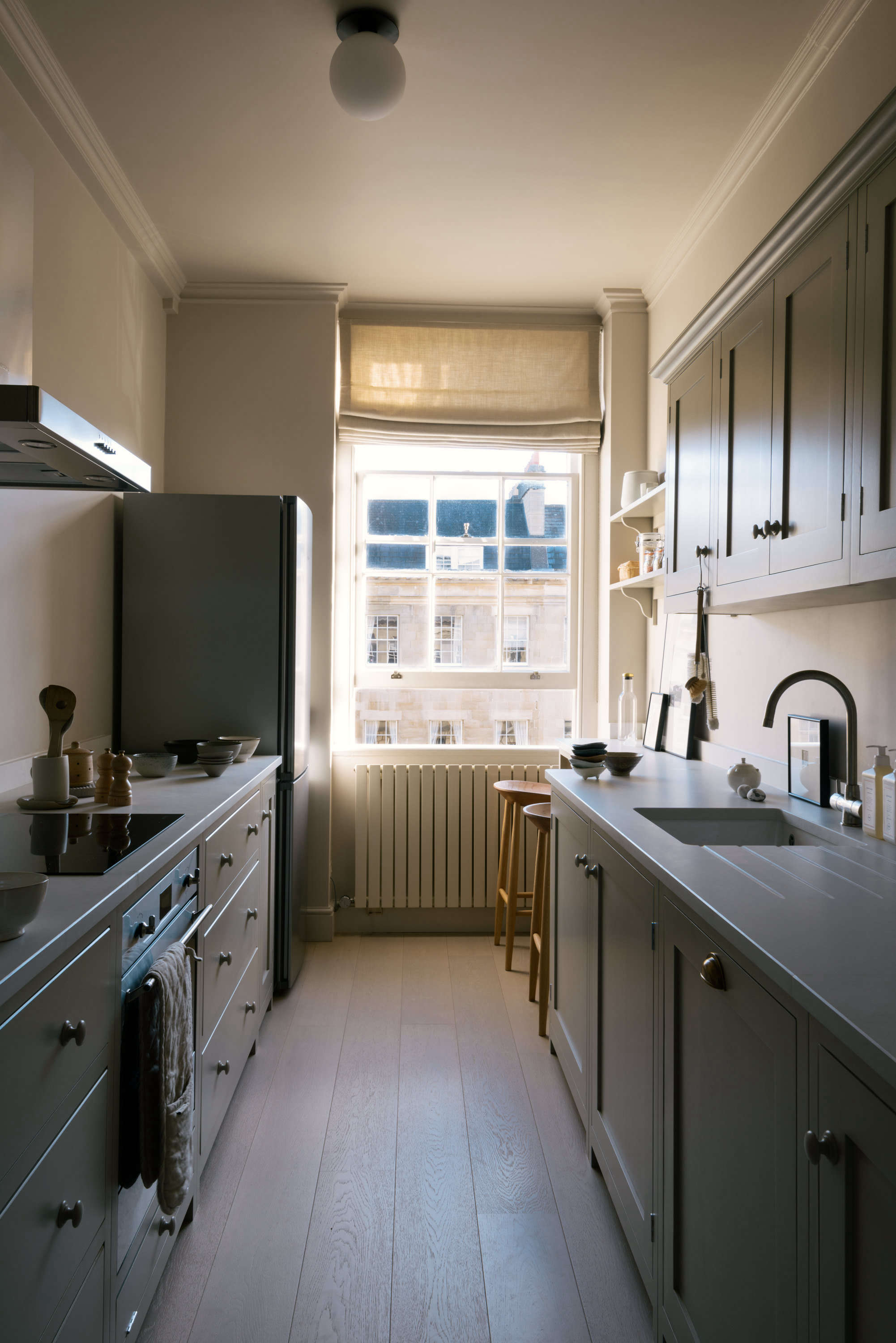 Shaker Galley Kitchen A Stylish Small Design By Devol For
