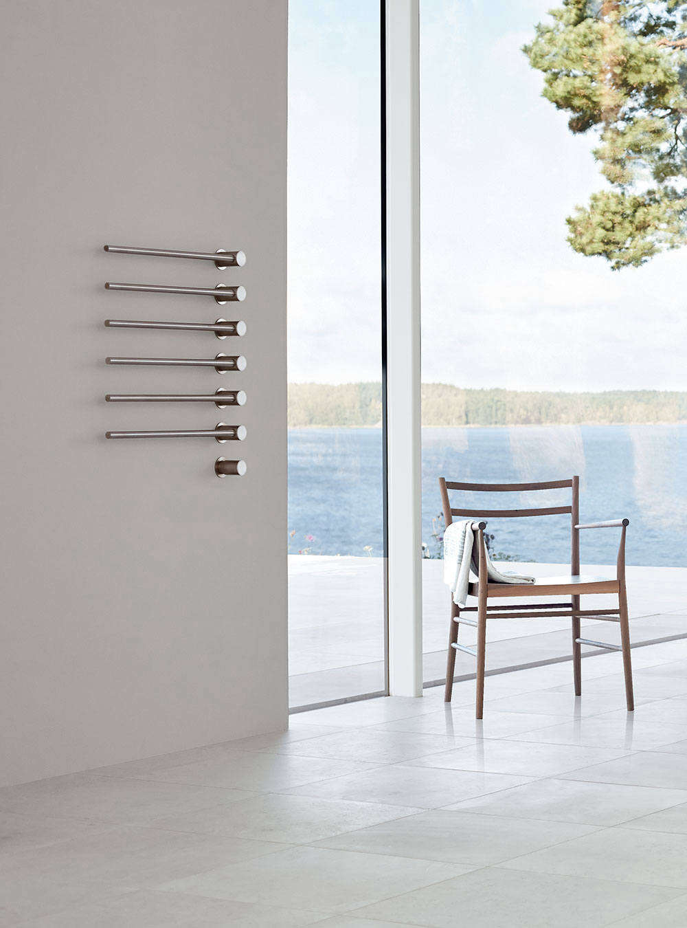 On the high end of the pricing spectrum, the Vola Stainless Steel Built-in Heated Electric Towel Warmer with Thermostat can be customized from 3 up to 10 towel bars starting at $4,515 at Quality Bath. It's also available in Chrome starting at $3,357. For those who prefer a hydronic warmer, the Vola comes as a hydronic system as well.