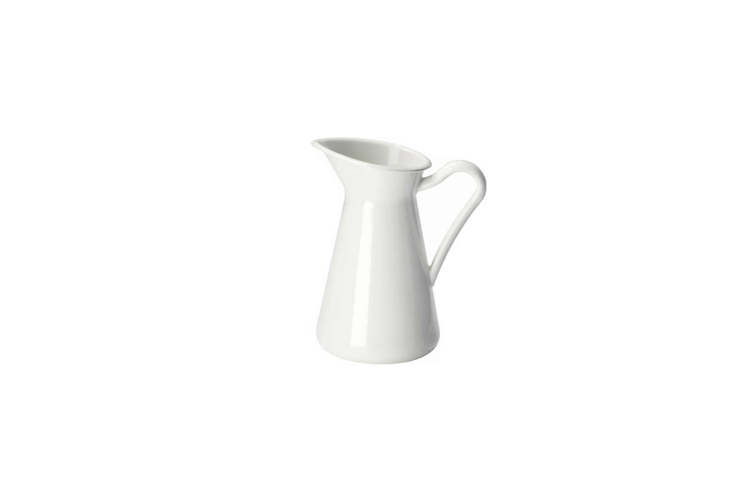 A Remodelista favorite, Ikea's enameled Sockerart White Vase is just $14.99 for the large.