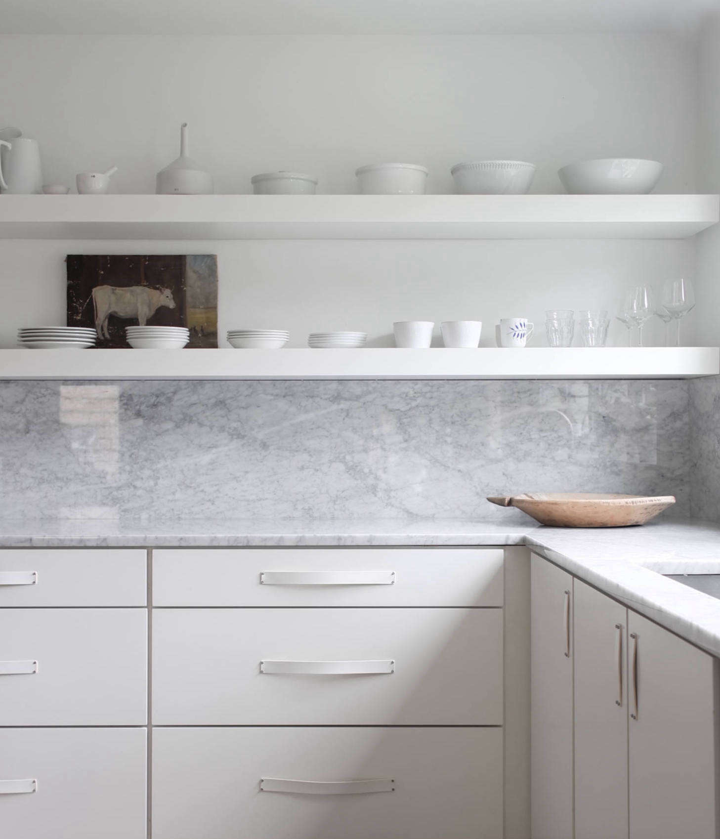 16 Favorite Solid Marble Kitchen Backsplashes, For Maximum