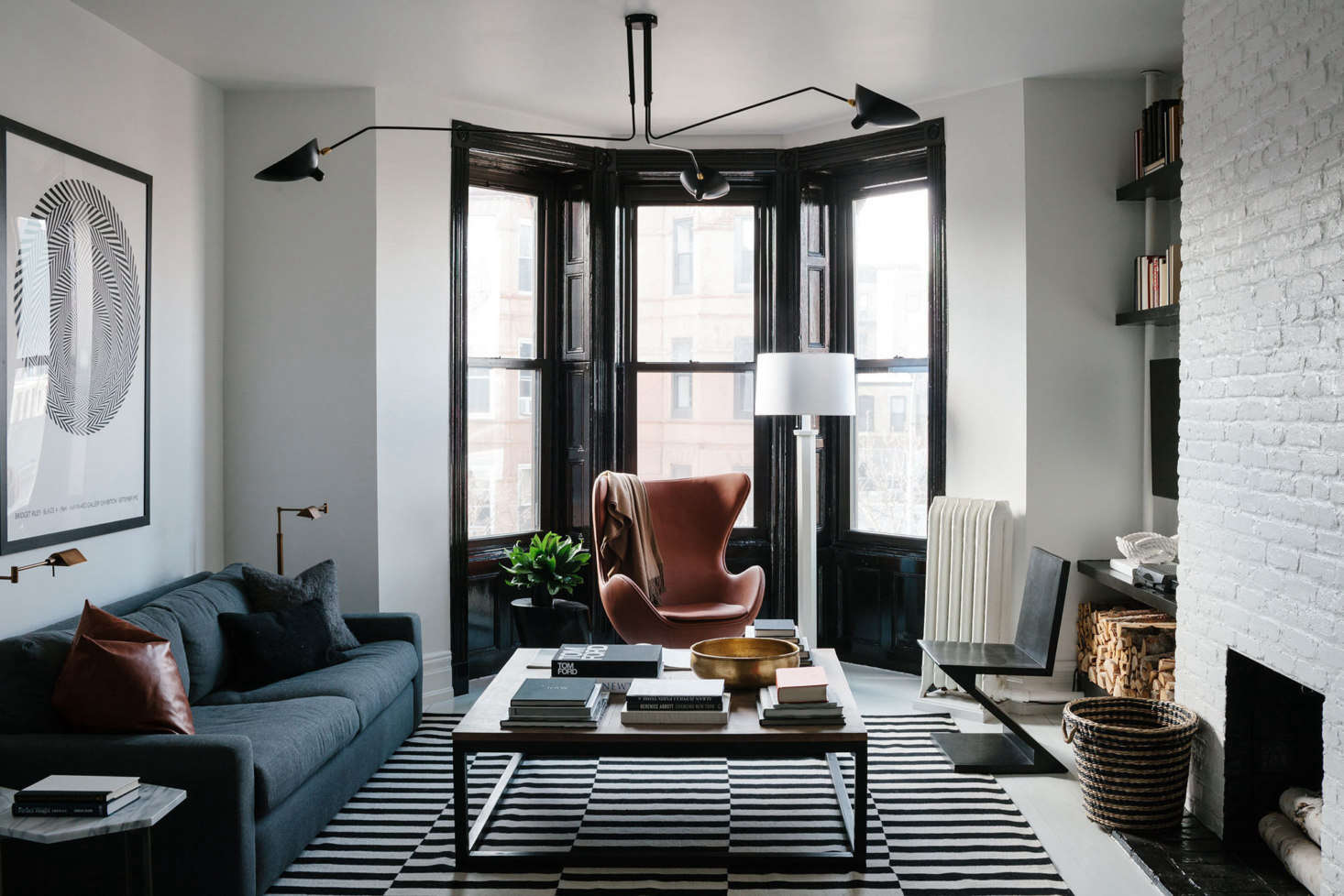 "Before & After: A ""Not Too Brooklyn"" Bachelor Pad in Park Slope, Transformed with Paint"