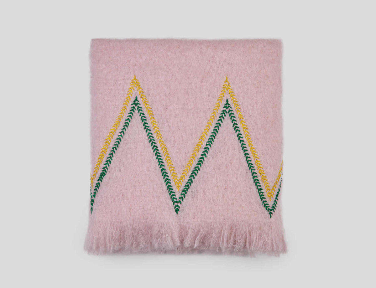 Object of Desire: Hand-Embroidered Mohair Blankets from Jupe by Jackie
