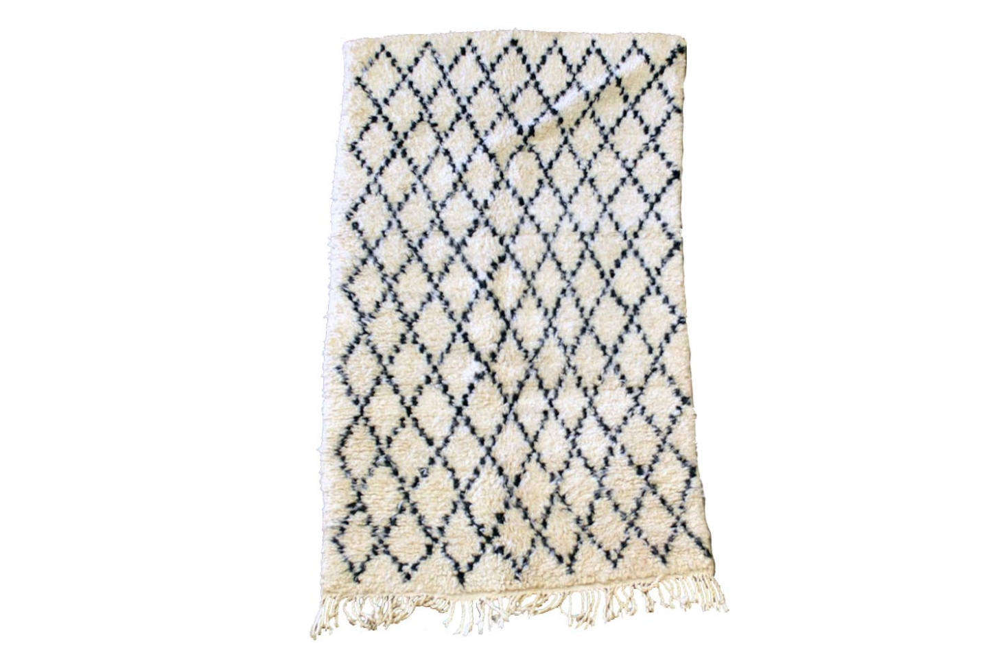 The Vintage Beni Ourain Rug handmade by Berber peoples in the Atlas Mountains of Morocco is £493 at SCP.
