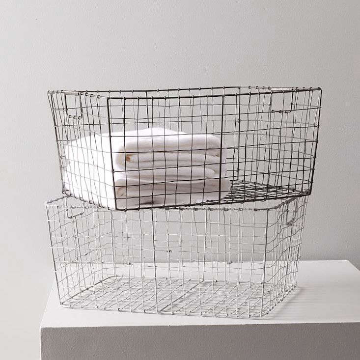 And, our editors are fans of the versatile wire basket, especially the charmingly imperfect versions in8 Favorites: Farmhouse-Style Wire Baskets, Starting from $.