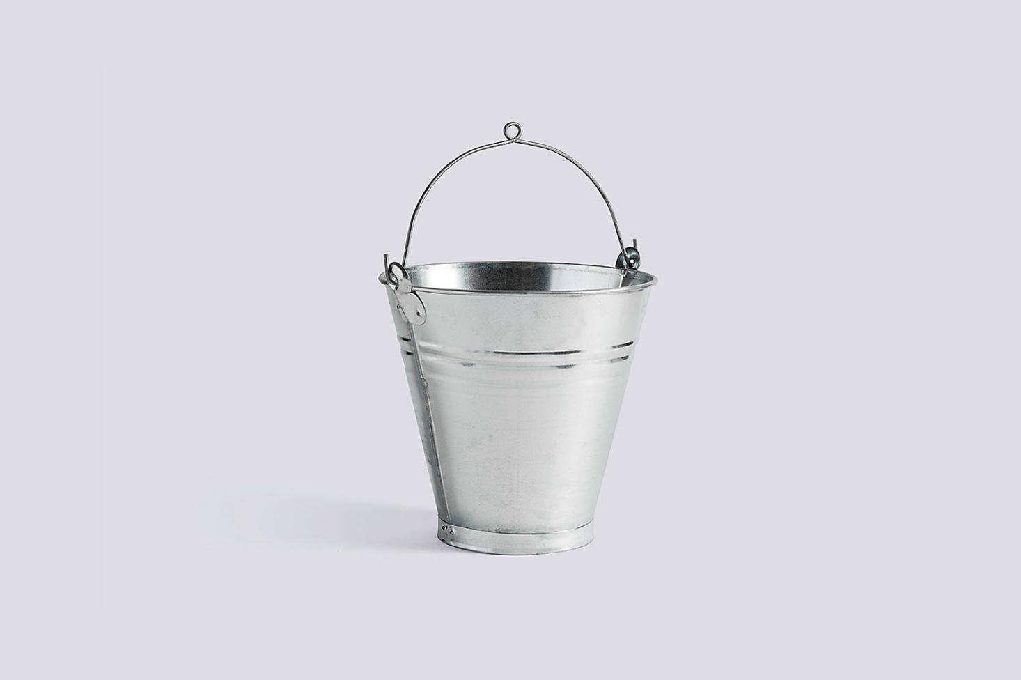The galvanized iron Turkish Handmade Bucket is $ at Hay.