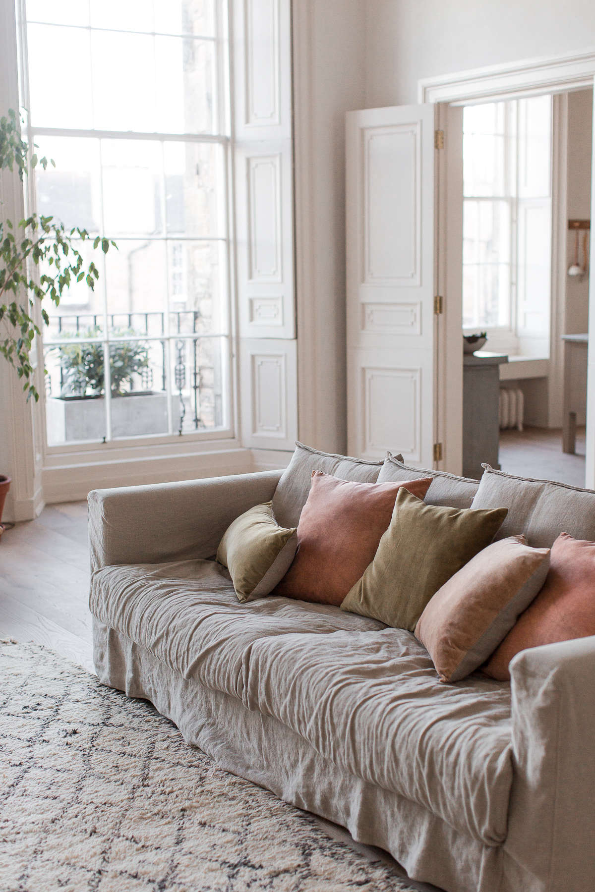 During the several months Nina and Craig were awaiting building permits, they lived in the apartment with just a sofa and a mattress on the floor. Decotique&#8