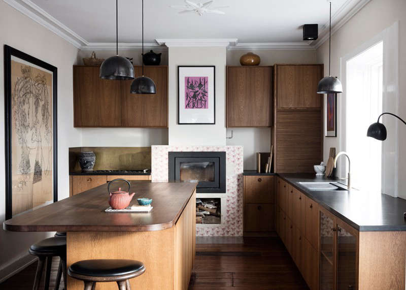The 323-square-foot kitchen belongs to Rebecca and Peter Elbek—she's a jewelry designer, he's a tech investor, and they have four daughters, ages 3 to 18. The family live near the sea in a 19th-century house just north of Copenhagen that they've been remodeling in spurts over the last 15 years. Recently, they decided to re-situate the kitchen in what had been the living room because they wanted to start afresh in a space with more natural light.