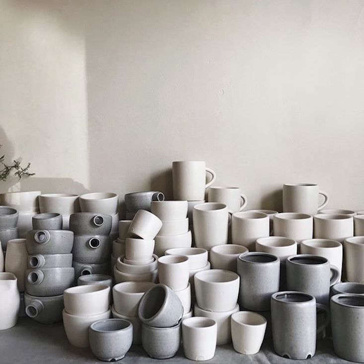Kim and Park asked Notary Ceramics to make custom vessels for Maru. (See Portlandia: Inside the Remodeled Farmhouse of a Cult Favorite Ceramicist for a glimpse of Notary&#8