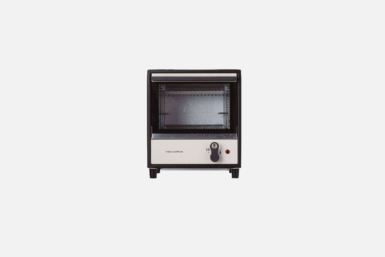 The Récolte Solo Oven Toaster, shown in white, is compact, approximately  by src=