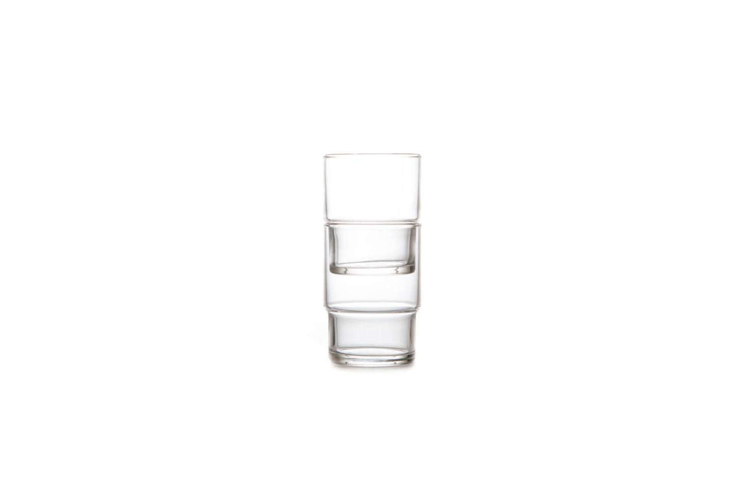 A Remodelista favorite, the Toyo-Sasaki HS Stackable Glass Tumbler is dishwasher safe and saves space thanks to the stackable design; $40.84 for a 6-piece set on Amazon.