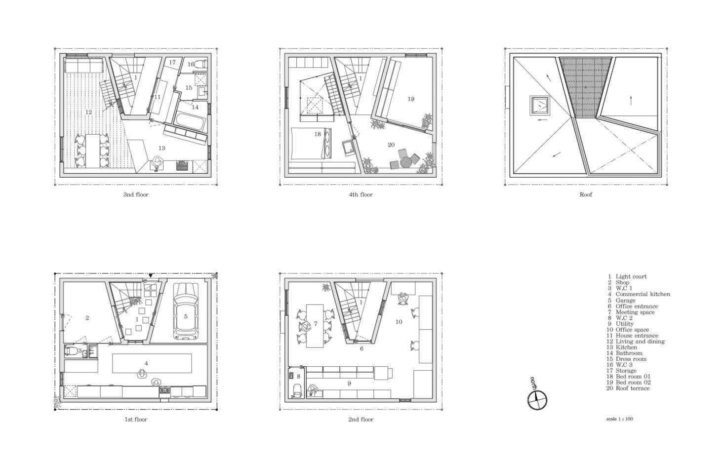 The floor plans.