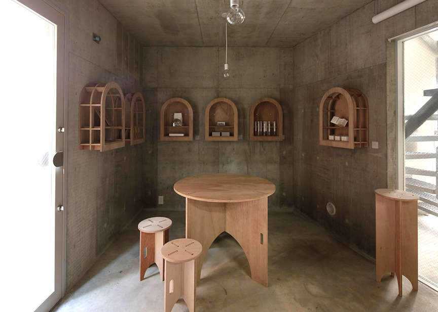 The Cineca atelier is set up as a chapel of sorts with Mio&#8