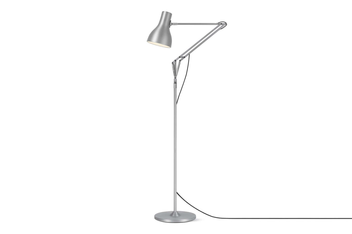 The Type 75 Floor Lamp designed by Sir Kenneth Grange for Anglepoise is an all-time classic updated from the brand's 1950s and 1970s versions. This style is available in four colors/finishes for $325 to $340 at Design Within Reach.