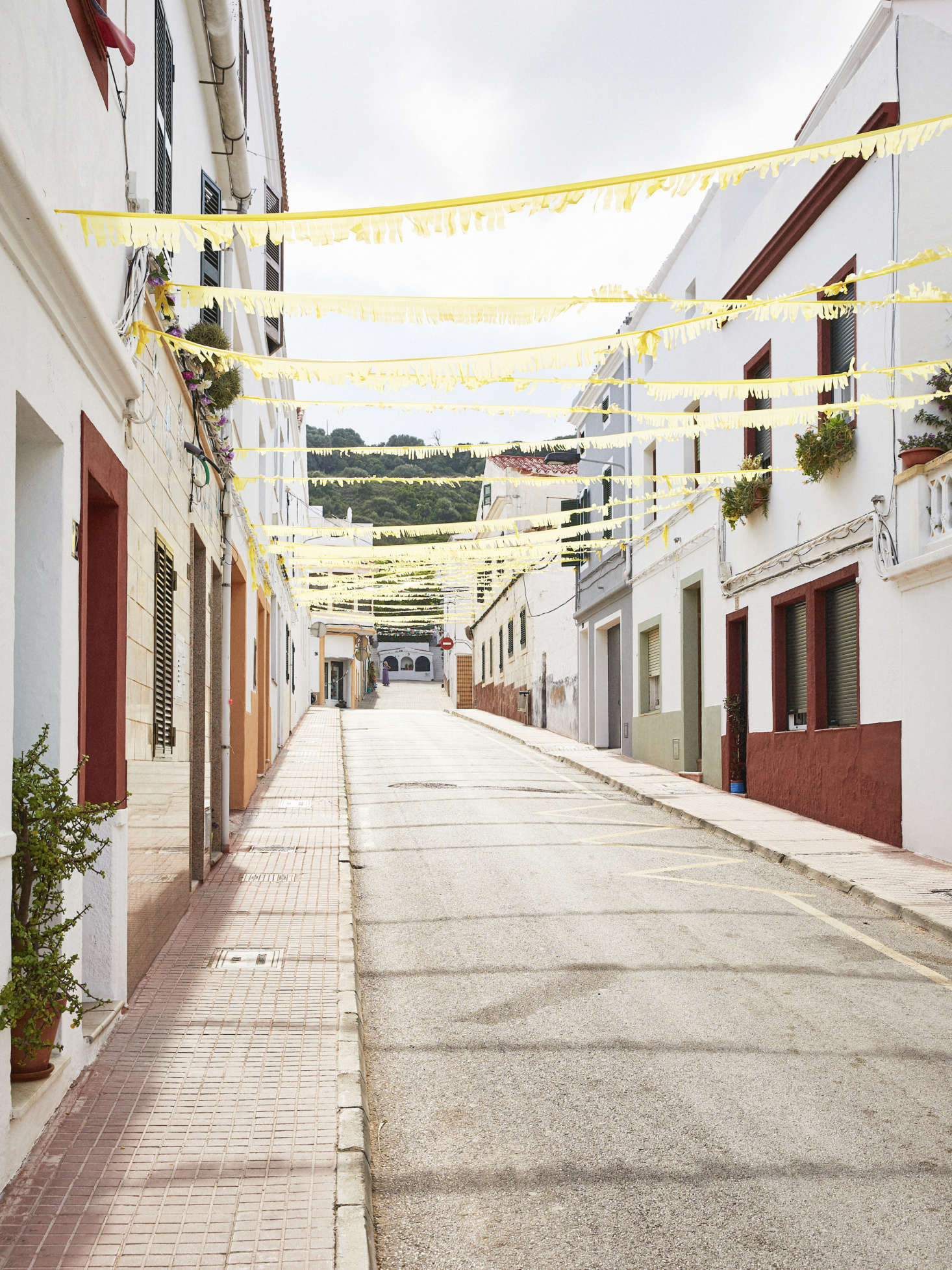 The street where Ces Sucreres is located in Ferreries, Menorca.