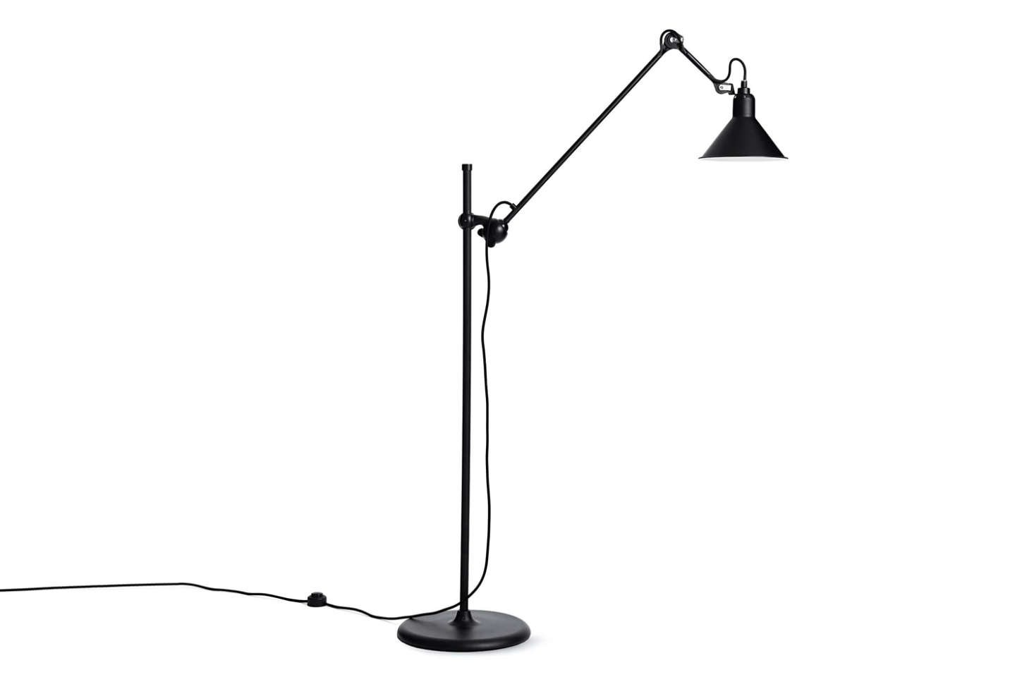 The Lampe Gras Model 215L Floor Lamp designed by French engineer Bernard-Albin Gras in 1921 and produced by DCW Editions comes in black and chrome. It's $960 at Design Within Reach.