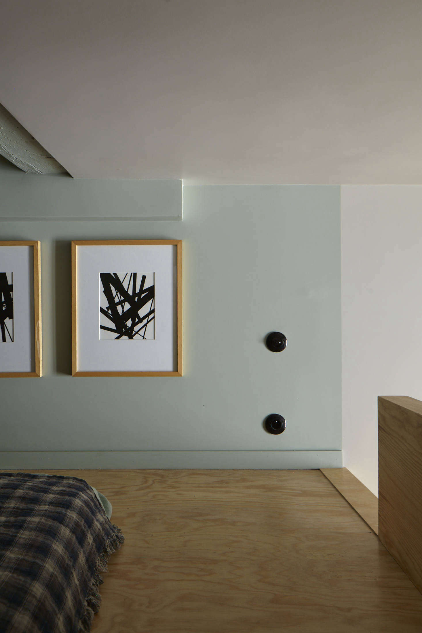 Minimal art and furniture keeps the space open and inviting, not claustrophobic.