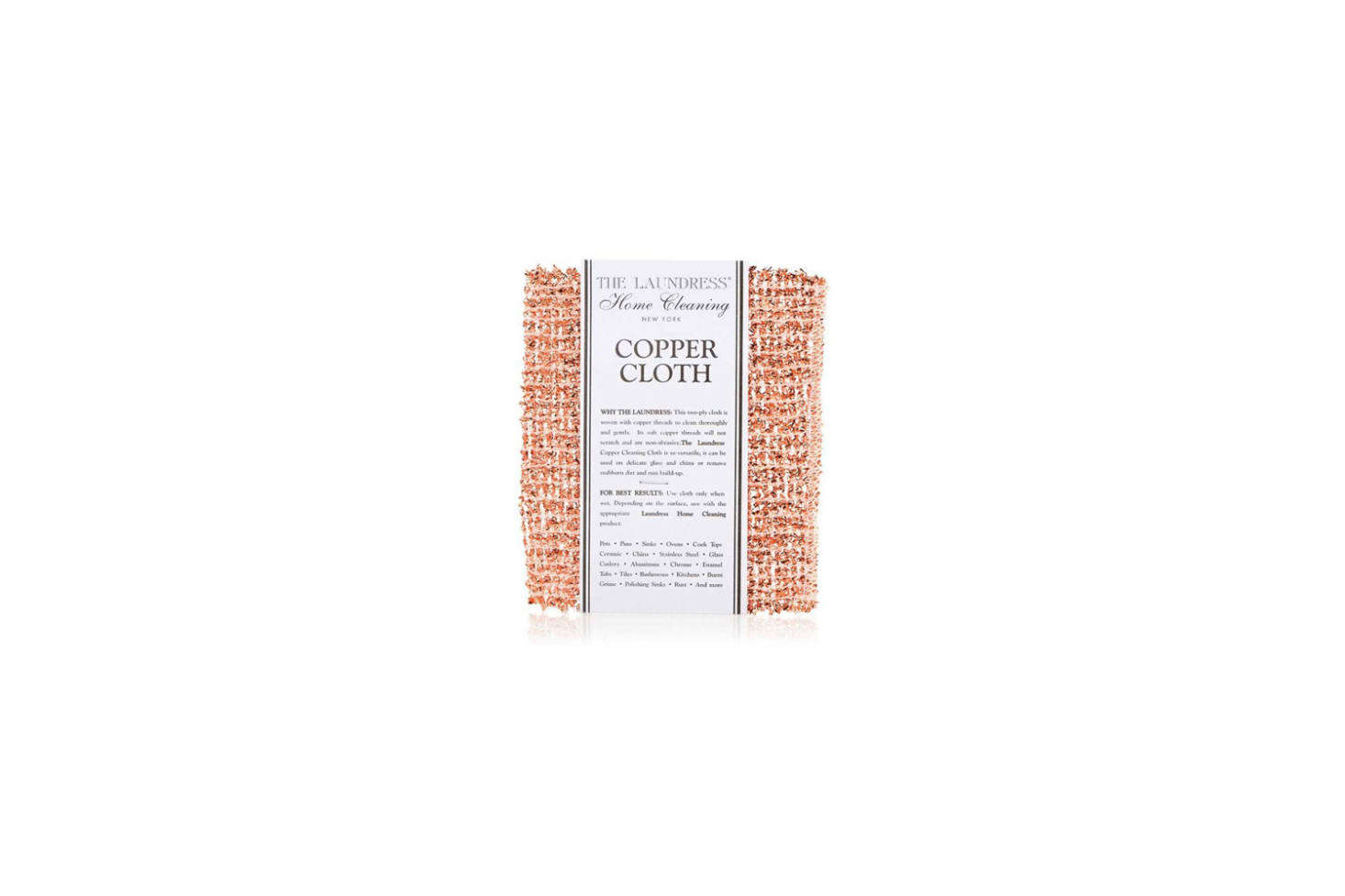 From The Laundress, the classic Copper Cleaning Cloth is $15.20 on Amazon Prime.