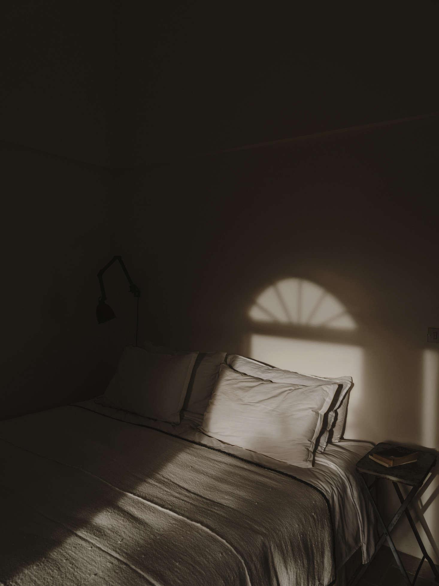The bedroom in the Italian light.