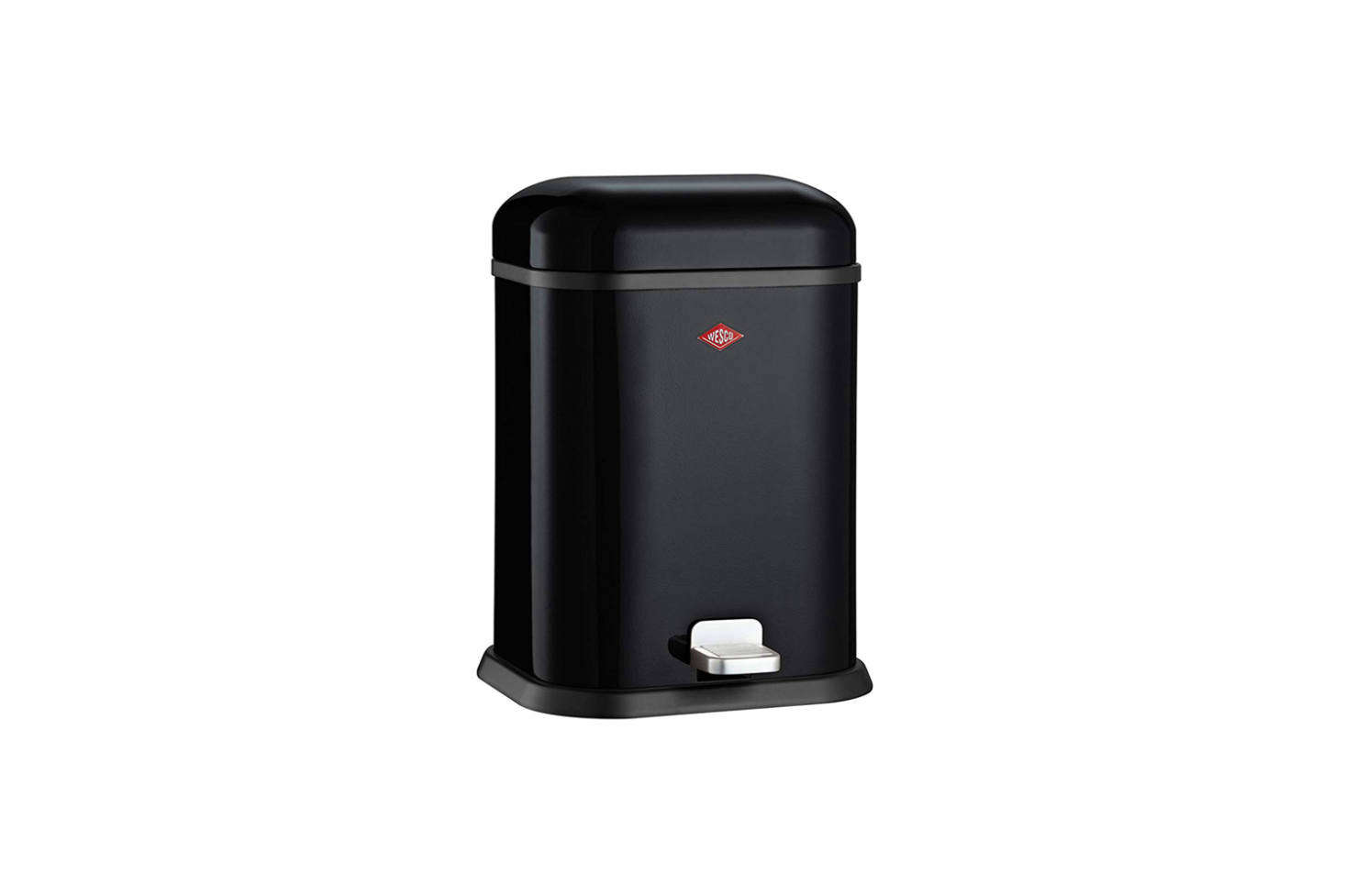 One of our favorite small trash bins is the Wesco Single Boy German-Designed Step Trash Can that comes in six different powder coated colors; $123.99 on Amazon Prime.