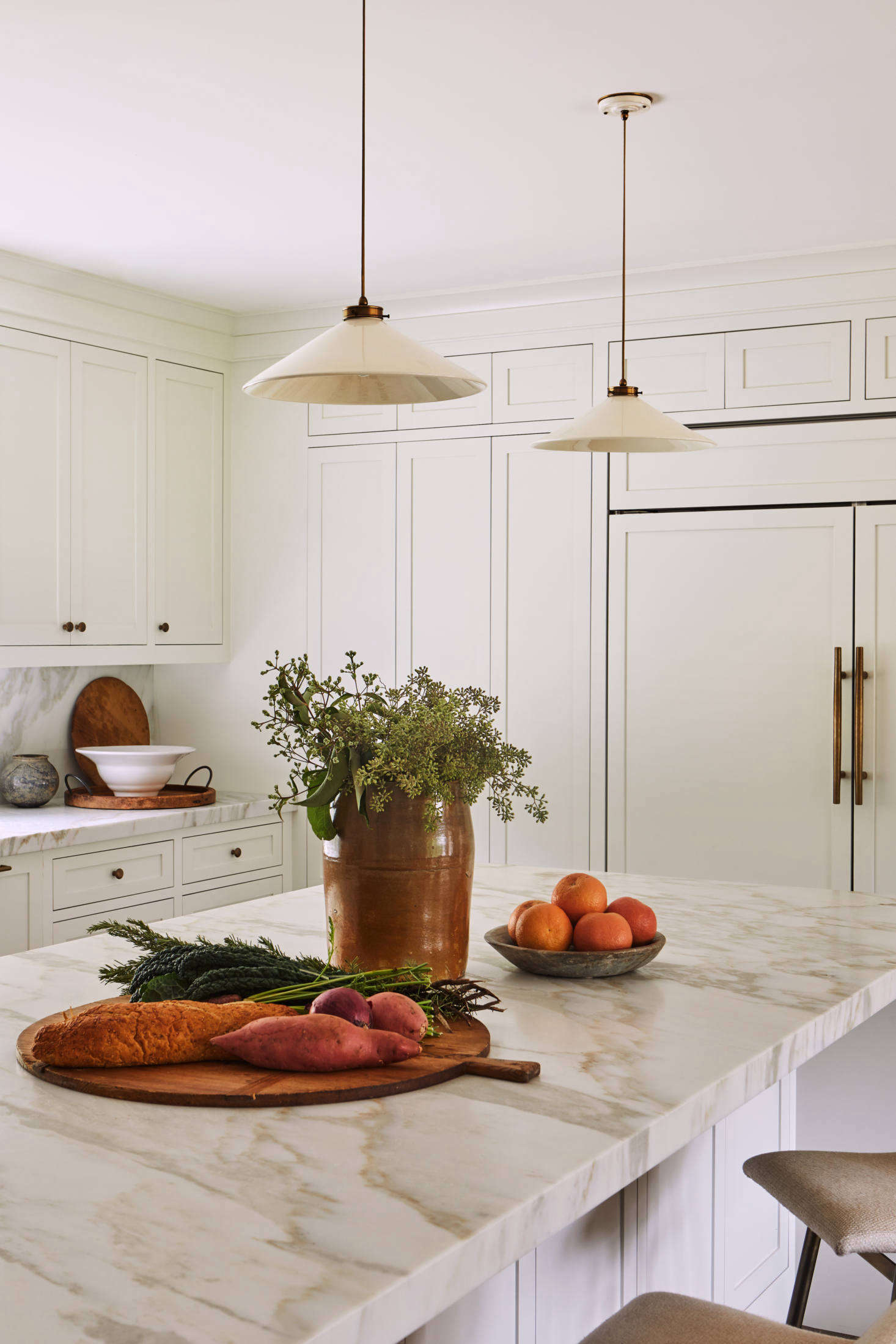 The owners themselves selected Calacatta Gold marble (with a &#8