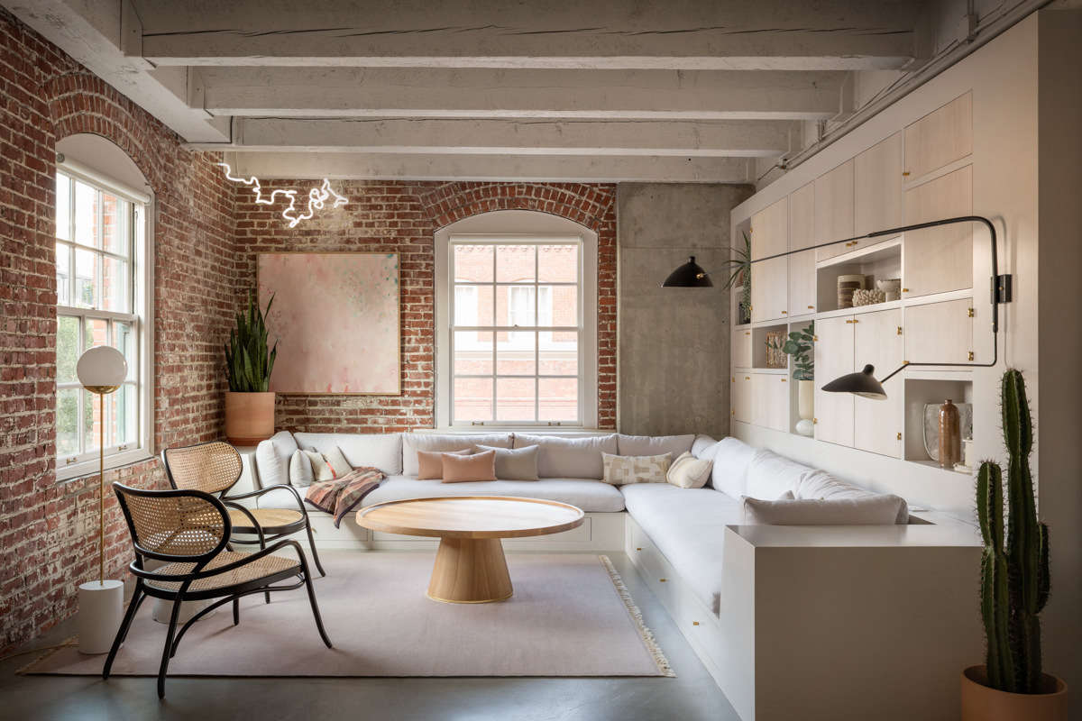 interesting brick loft interior design | What's Old Is New: A Pearl District Loft in Portland Gets ...