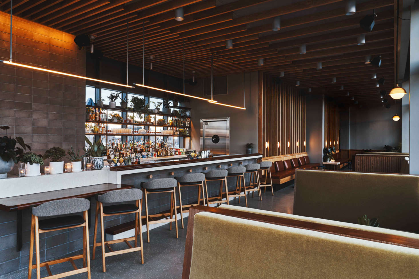The 11th-floor bar, called Last Light, has views of the city and two outdoor decks.